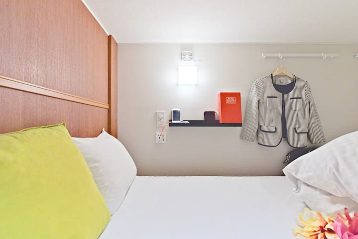 [Female Room] 1min Shinsaibashi St. near Dotonbori