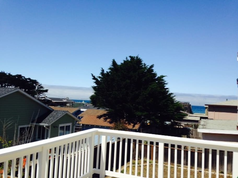 Views of the Ocean from the private deck