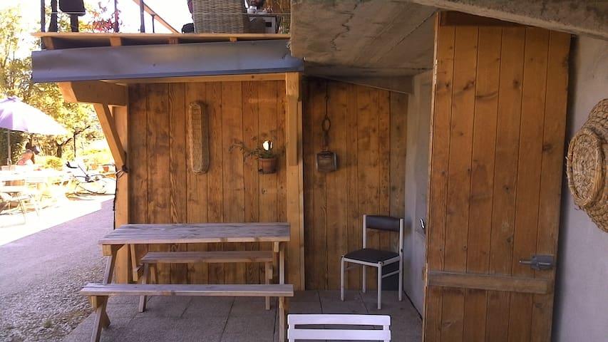 Un petit coin où vous pouvez manger sans vis à vis