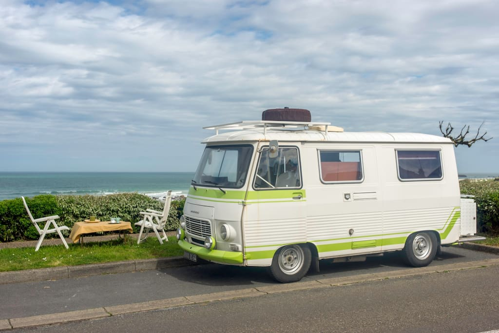 Avenue d´Illbarritz – Plage de La Milady - The van is parked here from 3rd of September until 14th of July