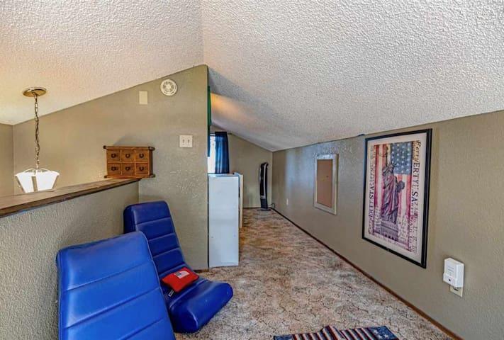 Kids lounge in upstairs loft
