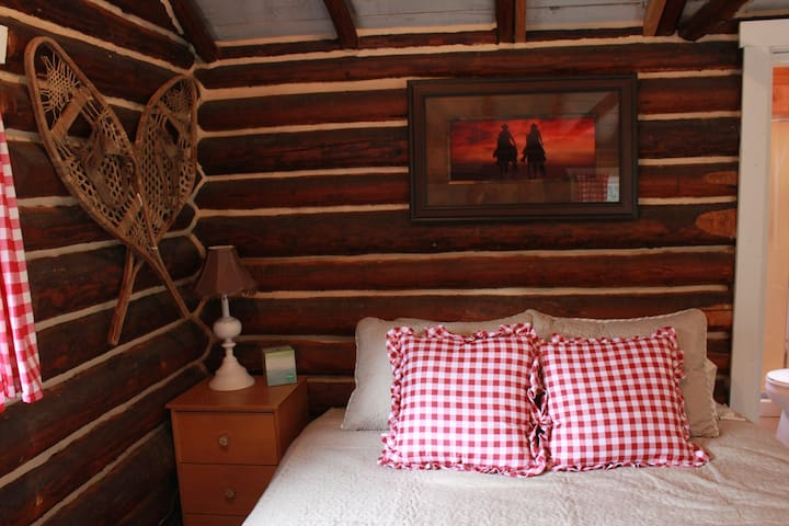 Cozy Cowboy Log Cabin on Organic Ranch - Loon Lake