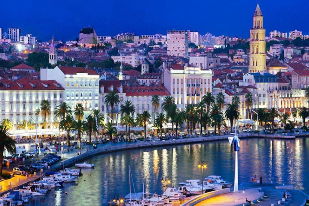 Beautiful city of Split, 25-30 minutes away.