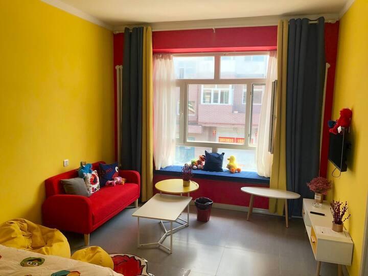 芝麻街主题一居室