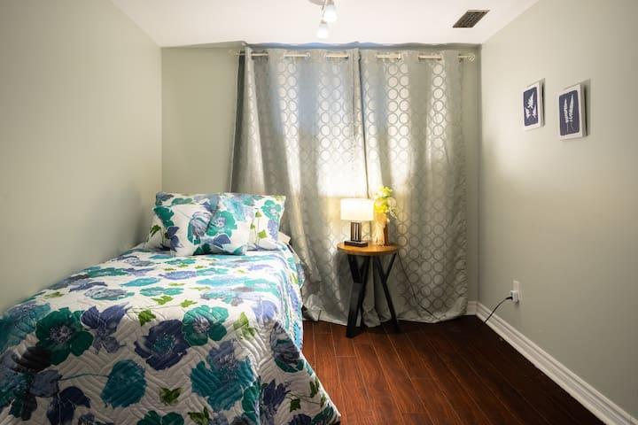 The second bedroom has 2 twin beds.