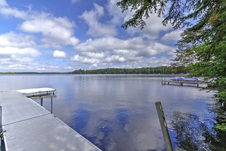 Land O'Lakes Escape: Private Waterfront, Boat Dock