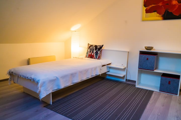 Single room, free parking, 15min to Prague Castle