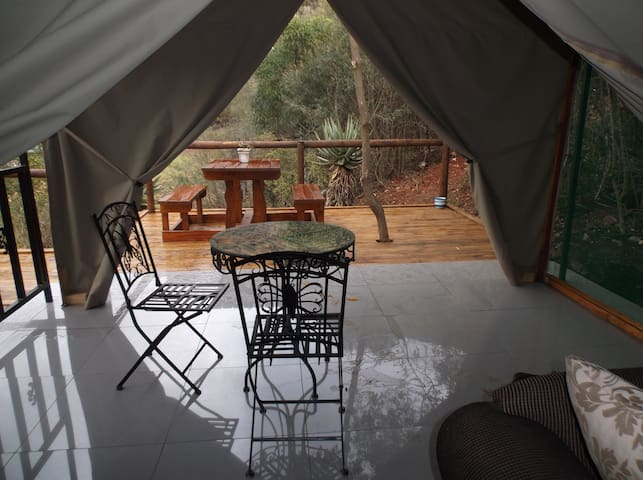 Luxury Safari Tent Mountain River View  @Old Mill