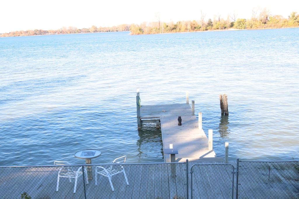 Private Dock with Patio Seating, Great for Fishing, Bird Watching and Relaxing with a cup of coffee