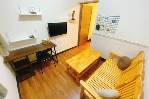 下田人家-B2床頭有插座 一房一廳「免費接送」 金城鎮 全聯 康是美 711 海邊 免費WiFi