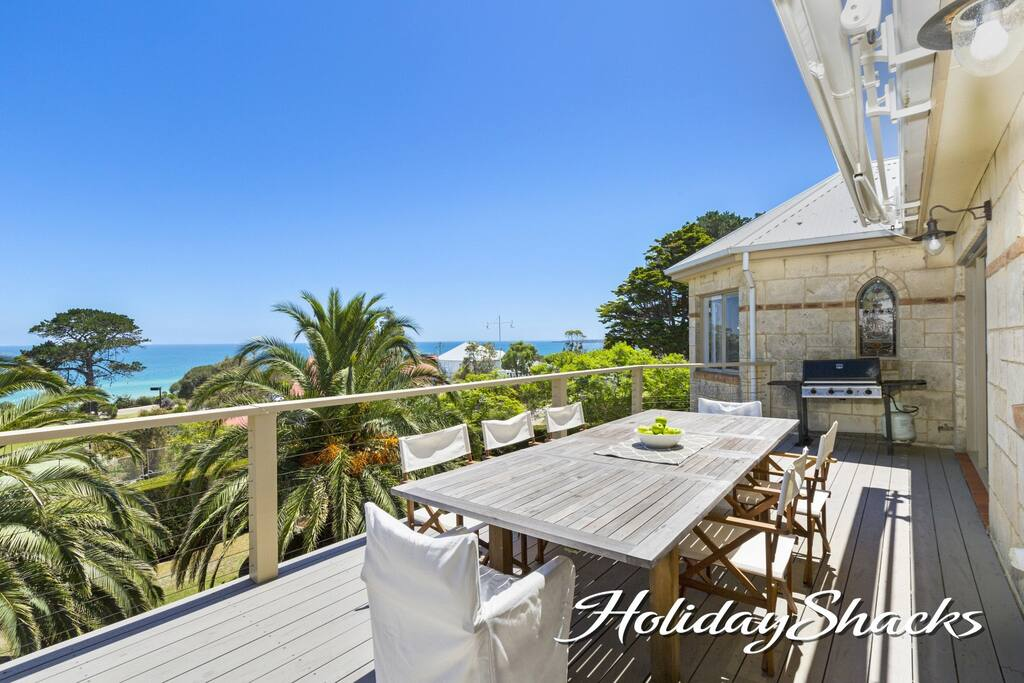 Magnificent water views from the al fresco dining deck