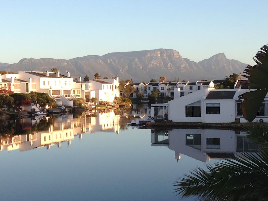 Early morning at Dabchick Quay in the Marina da Gama.