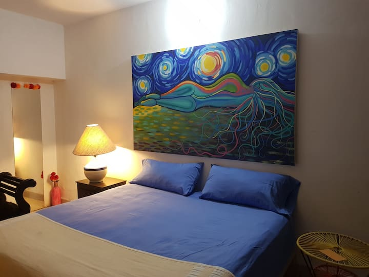 King Size Bed. Downtown Puerto Vallarta.
