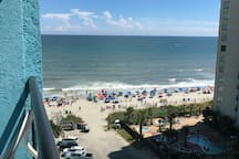 View from balcony of Ocean and beach