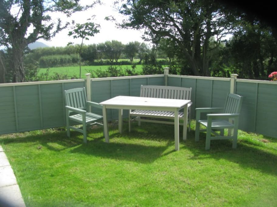 private picnic area , with uninterrupted views of the open countryside