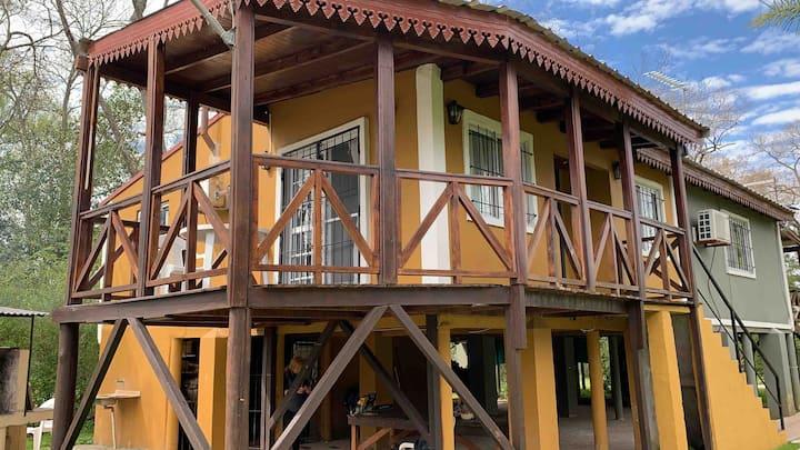 Cabañas en Arroyo Curubica, lugar de paz.
