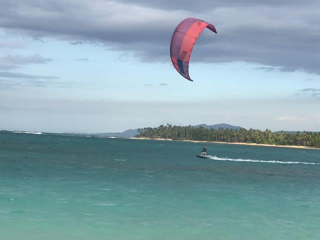 Kitesurfing school next door