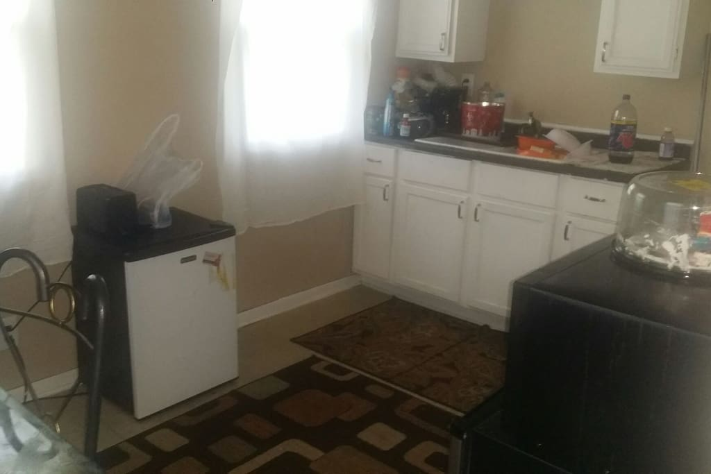 Kitchen (excuse the dishes)