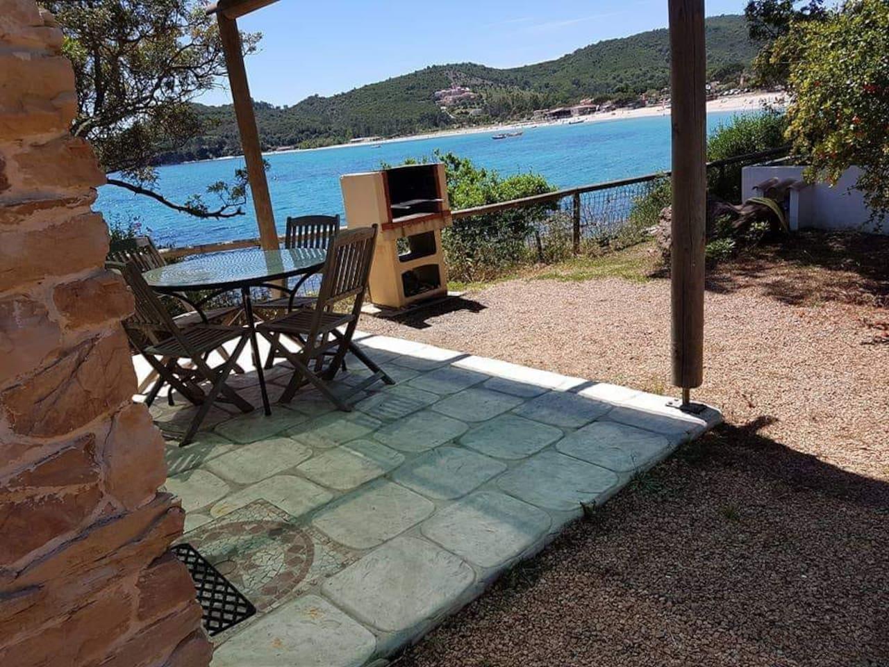 terrasse Mini Villa superbe vue mer