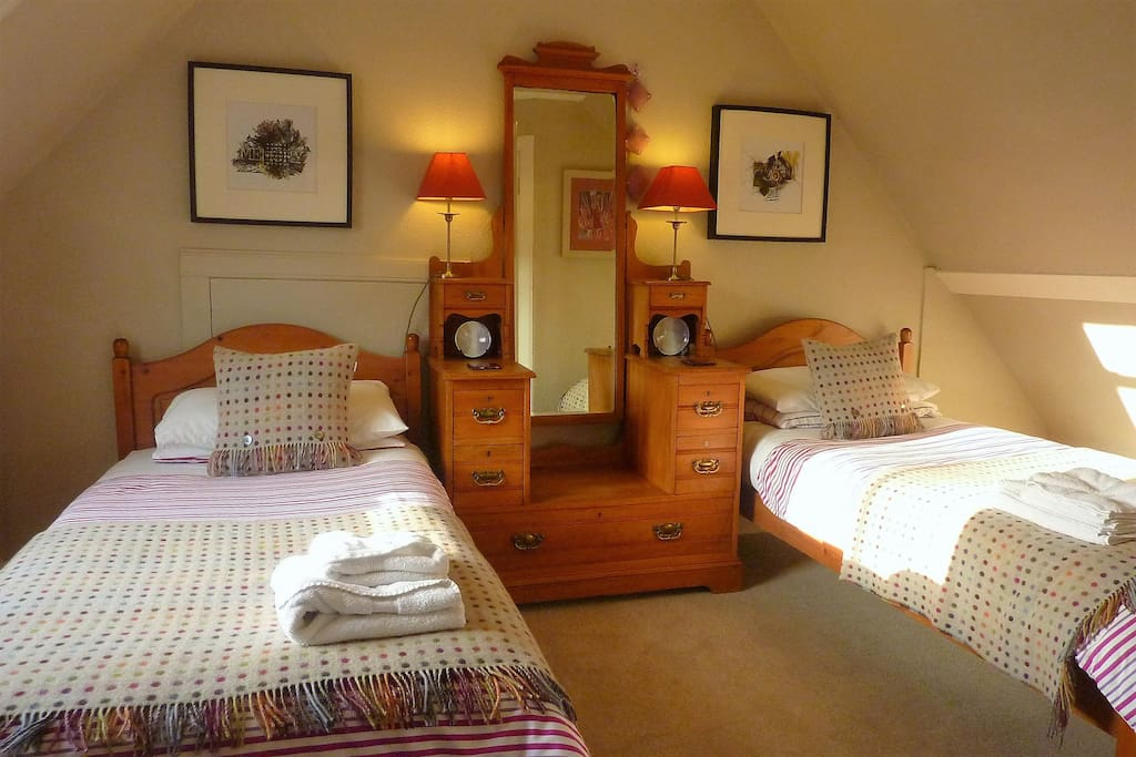 Tigh Bhan's , newly refurbished Twin Room with comfortable mattresses