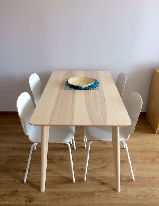 Brand new dining table and comfy chairs for your dining comfort