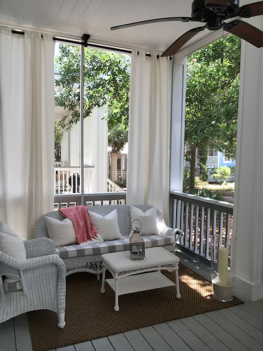 First floor porch sitting area