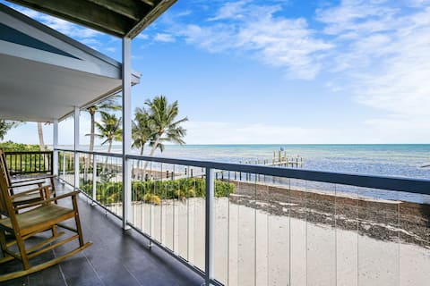 Family-friendly oceanfront home with private beach, private gas grill, and deck!