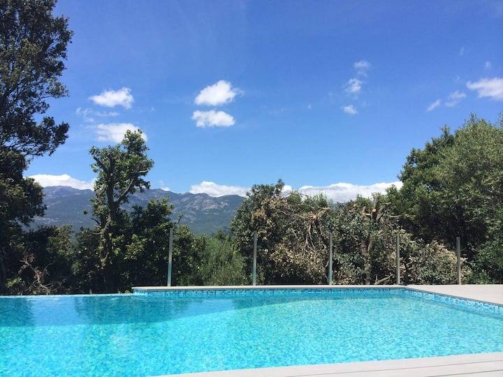 Maison idéalement située avec piscine à partager
