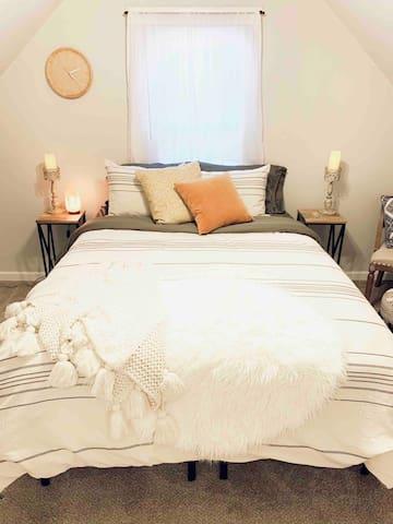 Bedroom #1 with queen mattress.