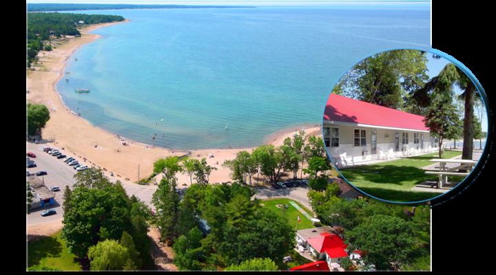 Balm Beach Resort. Offers a million Dollar view.