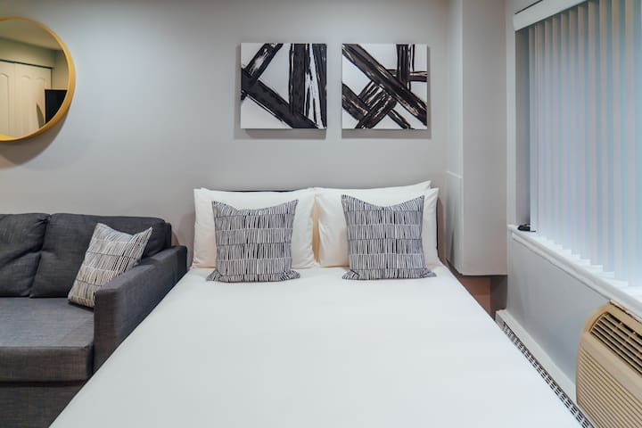 Comfortable beds with premium pillows and sheets for a sweet slumber.