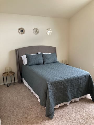 Full bed in upstairs bedroom
