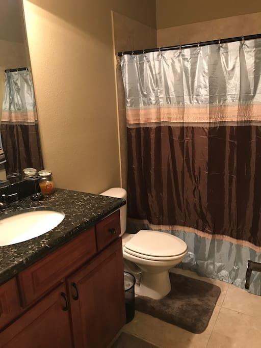Private Guest Full Bathroom, bottom floor