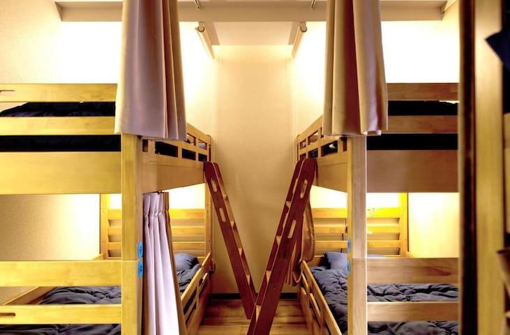 [Free breakfast]10 min from Osaka Station! A Mix Dorm-style room(3 pax)