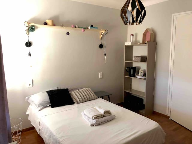 Private bedroom Scandi in Aix-Les-Bains Downtown