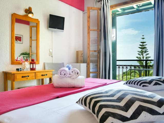 Panormos Beach Hotel Double room Sea View