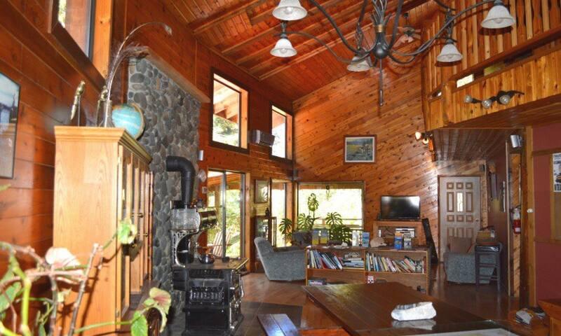 Quadra Island Lodge BnB - Room 4 - 3 single beds