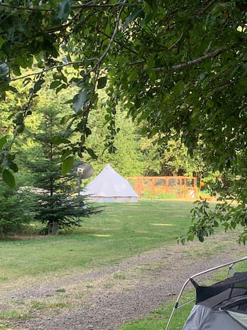 Glamping On The Siuslaw River canvas bell tent