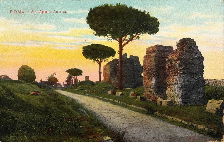 Postcard, Appian Way, 1910