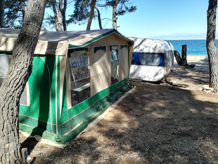 Caravan near the sea