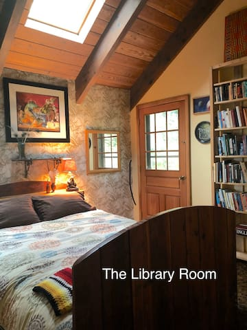 The Library Room with door to private deck