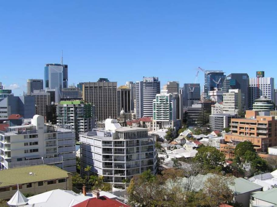 Central Brisbane view from balcony