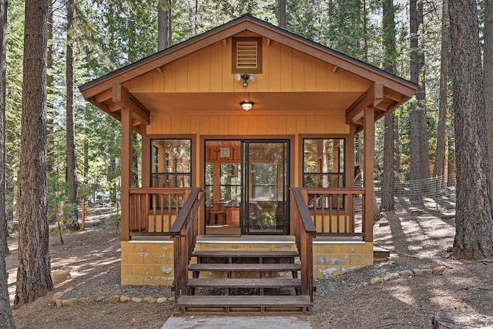 This charming home sleeps 8 and boasts a private tree house.