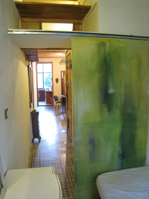 door of the room