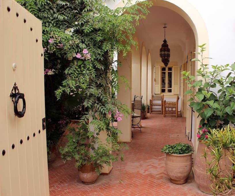 Entrance into the courtyard garden