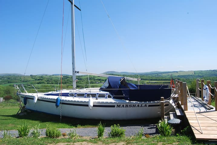 The UK's first glamping land boat in Pembrokeshire