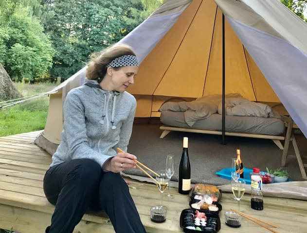 Glamping | Luksustelt med adgang til vildmarksbad