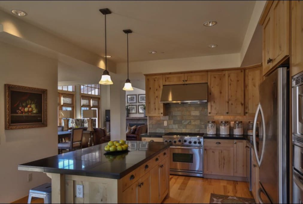 Great open fully stocked kitchen