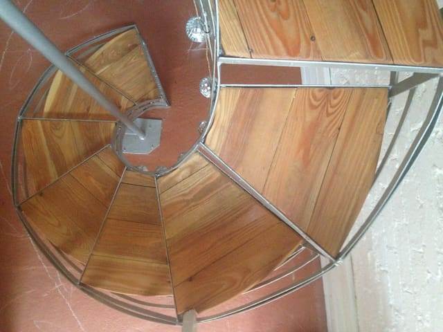 The spiral staircase - careful up and down :)