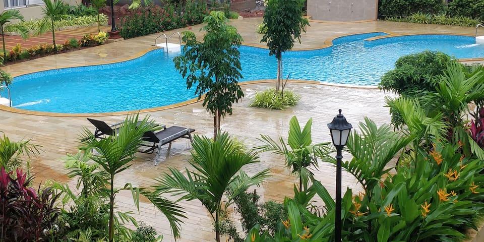Most convenient 2 BR apartment in central Anjuna